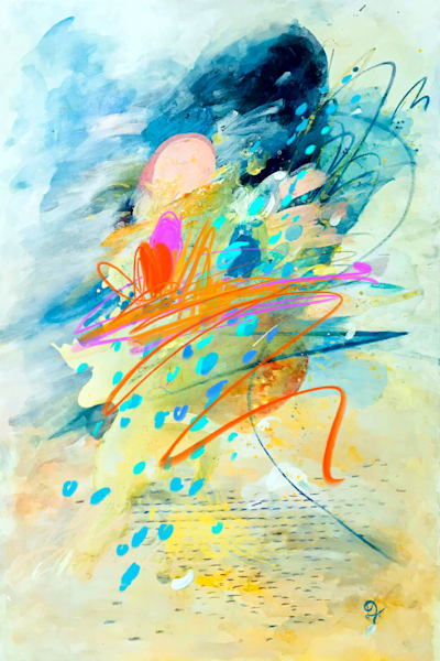 Poem V Painting on Canvas by Artist  Deepa Koshaley