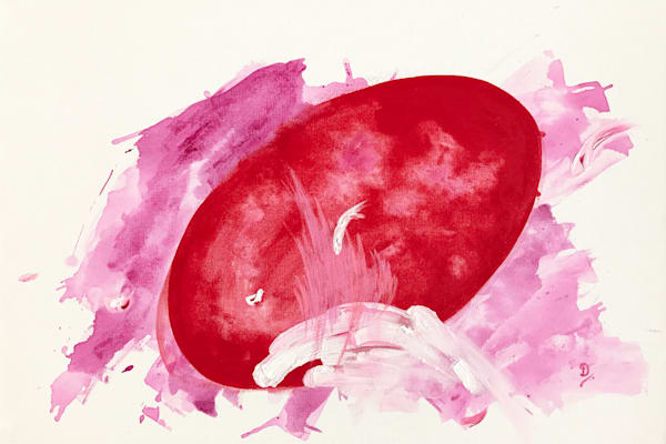 Red I Painting on Canvas by Artist Deepa Koshaley