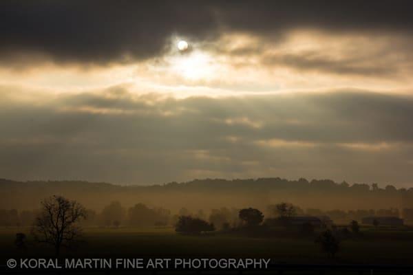 Foggy Sunrise Arkansas Photograph 9537  | Waterfall Photography | Koral Martin Fine Art Photography