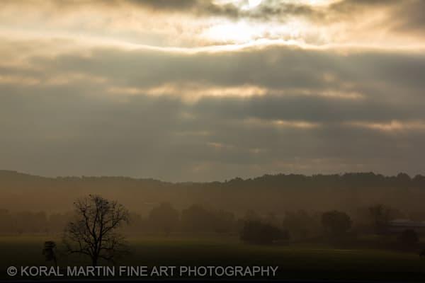 Foggy Sunrise Arkansas Photograph 9551  | Waterfall Photography | Koral Martin Fine Art Photography