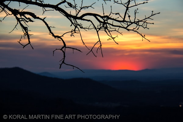 Petit Jean Sunset Photograph 0291  | Waterfall Photography | Koral Martin Fine Art Photography