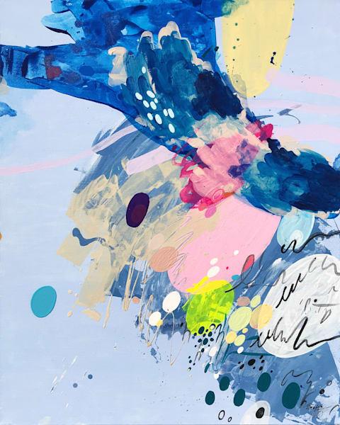 Writing II Painting on Canvas by Artist  Deepa Koshaley