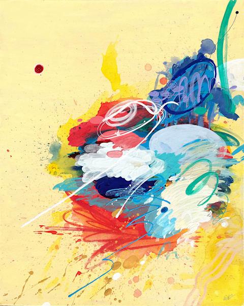 Writing III Painting on Canvas by Artist  Deepa Koshaley