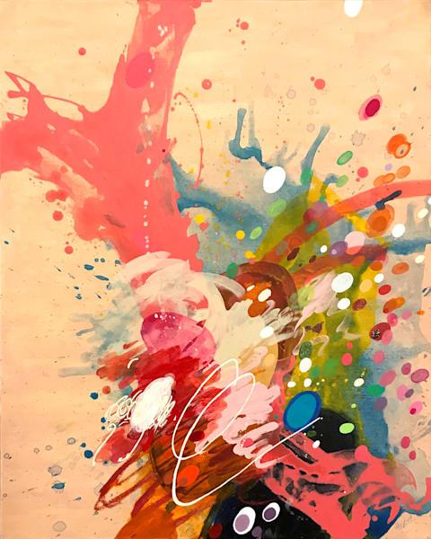 Writing IV Painting on Canvas by Artist  Deepa Koshaley