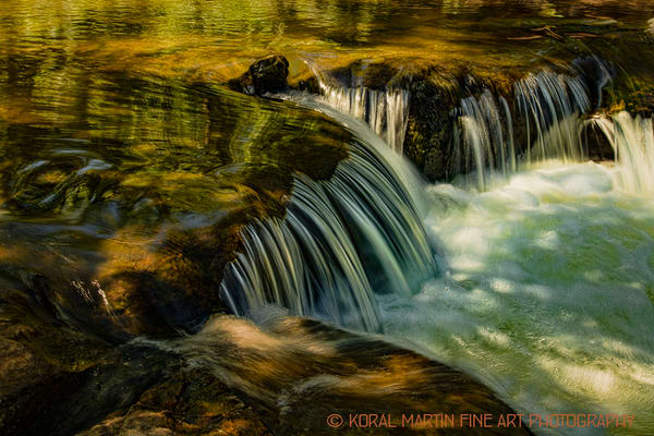 Small Falls Cascade Photograph 2349 | Waterfall Photography | Koral Martin Fine Art Photography