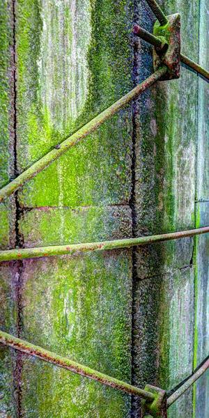 Green Lichen Silo Side
