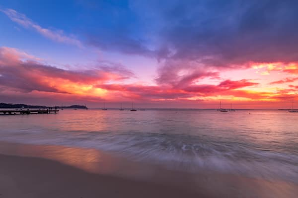 Pink n Blue - Shoal Bay Port Stephens NSW Australia Beach Sunrise