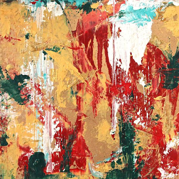 Golden Red Kimono Ii Art | Lesley Koenig Studio