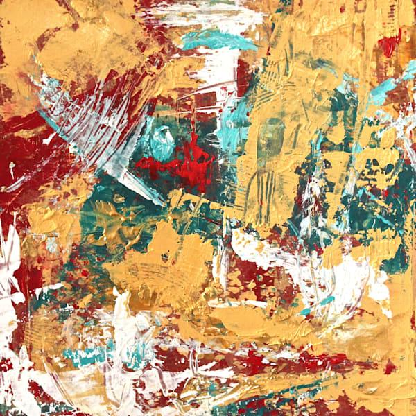 Golden Red Kimono Iii Art | Lesley Koenig Studio