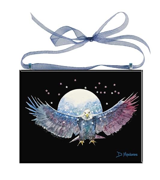 Fly Like an Eagle Glass Ornament