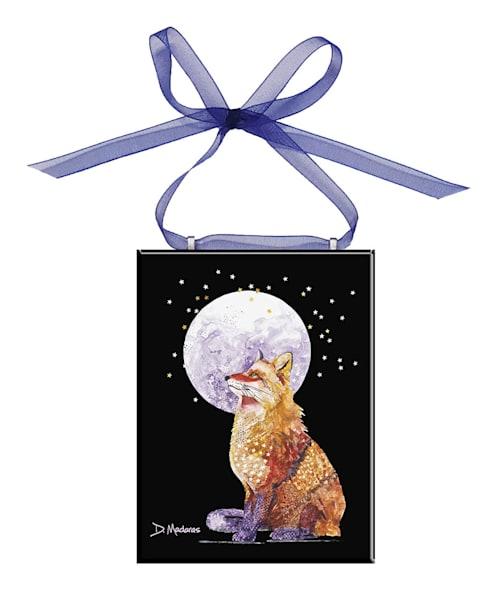 Foxy Lady Glass Ornament