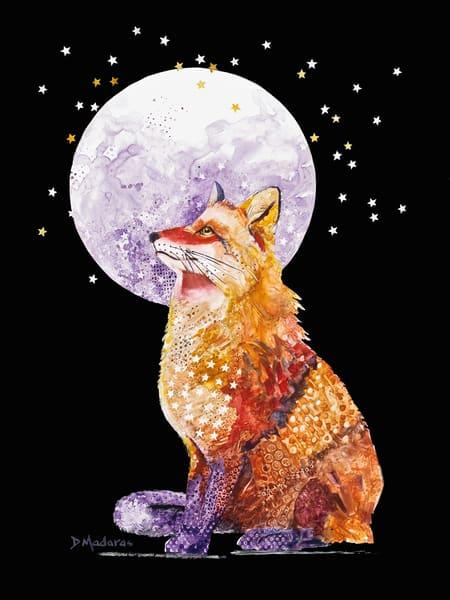Foxy Lady Watercolor