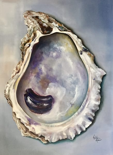 Ruffled Oyster Original Oil Painting by Kristine Kainer