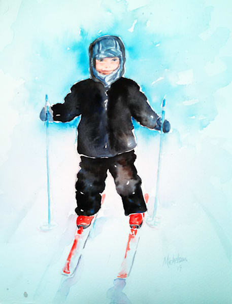 Gunner On Skis | Bright Spirit Studio