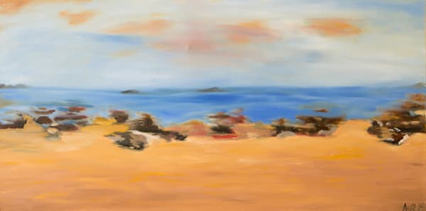 Driving by Ocean Beach print from an original oil painting by Ane Howard""