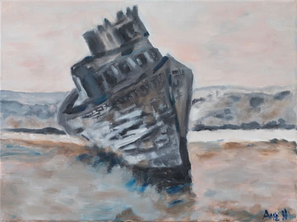 Sunken Ship At Point Reyes Art | Ane Howard Art Gallery
