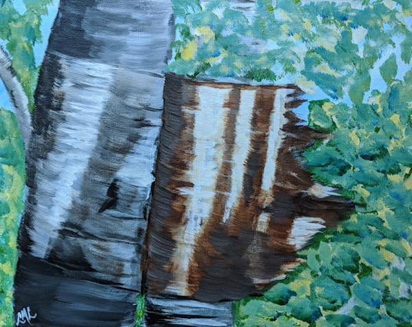 Paper Birch Painting | LML Studio Art