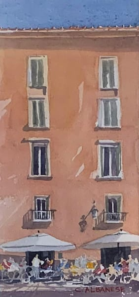 Lucca Original Watercolor Chuck Albanese