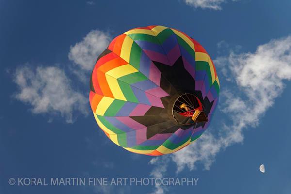 Albuquerque Balloon Fiesta Moon Photograph 3324 | New Mexico Photography | Koral Martin Fine Art Photography
