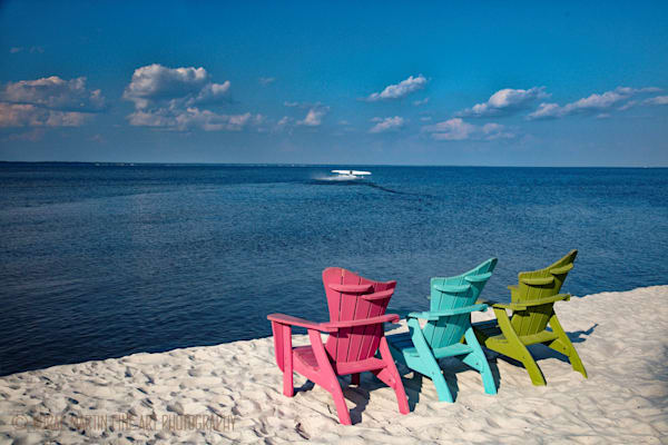 Destin Florida Beach with Chairs Photograph 1462  | Florida Photography | Koral Martin Fine Art Photography