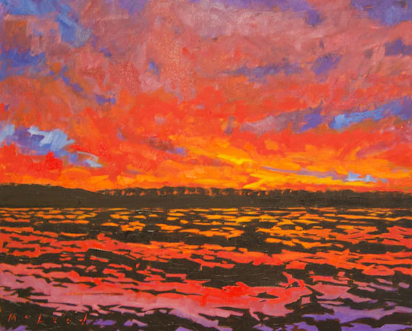 "Sunset Series 2. Keo, AR, original 24"" x 20"" oil on canvas by Matt McLeod"