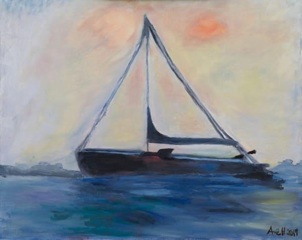 """""""Sailboat anchored at the Sausalito Harbor"""""""