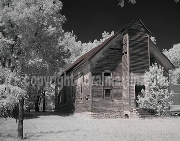 Infrared Old church  | Infrared Photography | Koral Martin Fine Art Photography