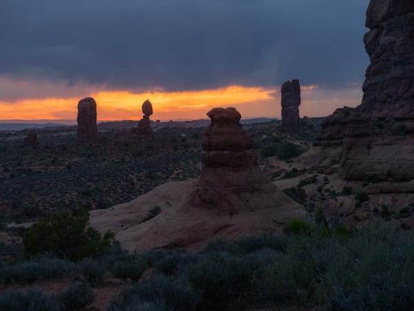 Balanced Rock at Sunset Moab