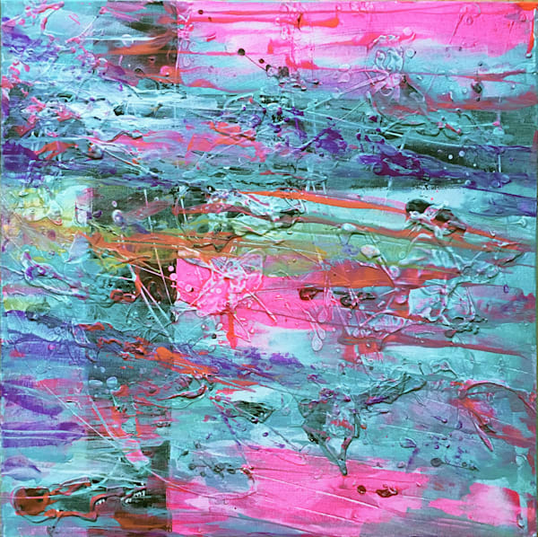 Bazooka Gum Explosion abstract painting