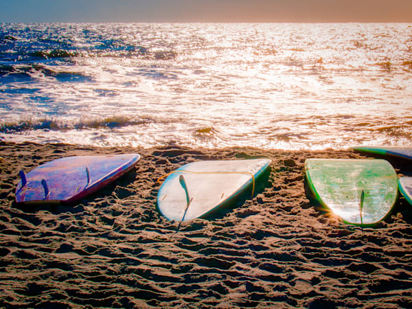Surfboards on beach
