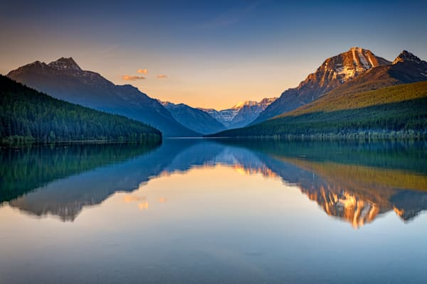 Bowman Lake Reflections by Rick berk