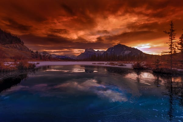 December Sunrise in Banff |Canadian Rockies|Banff National Park|