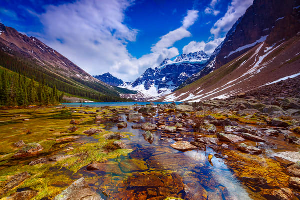 Consolation Valley close by Moraine Lake. Canadian Rockies|Banff National Park|Rocky Mountains|