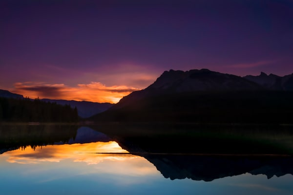 Rising sun on the Eastern Slopes of the Rockies. Banff National Park|Canadian Rockies|Rocky Mountains|