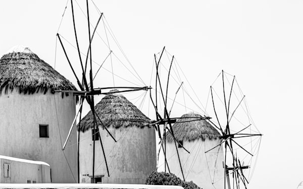 Jasa Fine Art Gallery | 2061 MYKONOS WINDMILLS  by Jasa