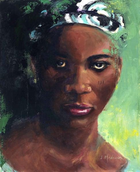 Tribal Woman In Green Art | J. Medeiros Fine Art
