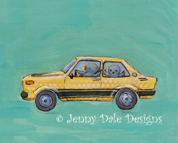 Joy Riding In The Bee Art by jennydaledesigns