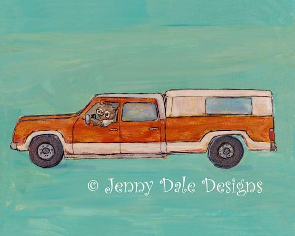 Mr. B's Orange Truck Art by jennydaledesigns
