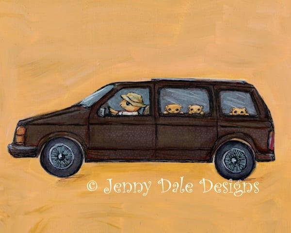 The Brown Mini Van Art | Jenny Dale Designs