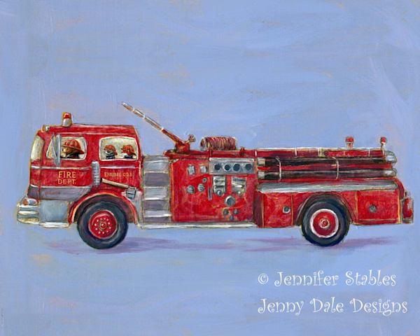 Woodland Fire Rescue Art by jennydaledesigns