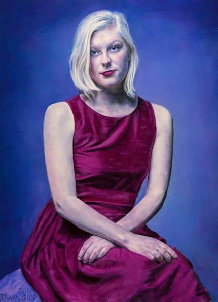 Rosie (Orginal Oil Painting On Wood Panel, Framed) Art | Jeffrey Harrison Multi-Media Artist