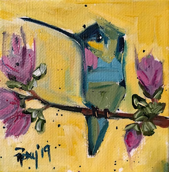 Pretty in Pink Hummingbird painting
