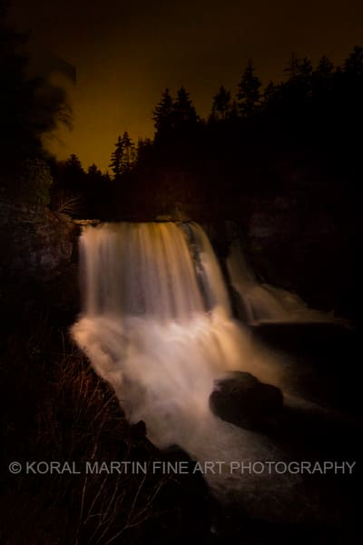 Blackwater falls Light Painting Photograph 1485 | West Virginia and Virginia Photography | Koral Martin Fine Art Photography
