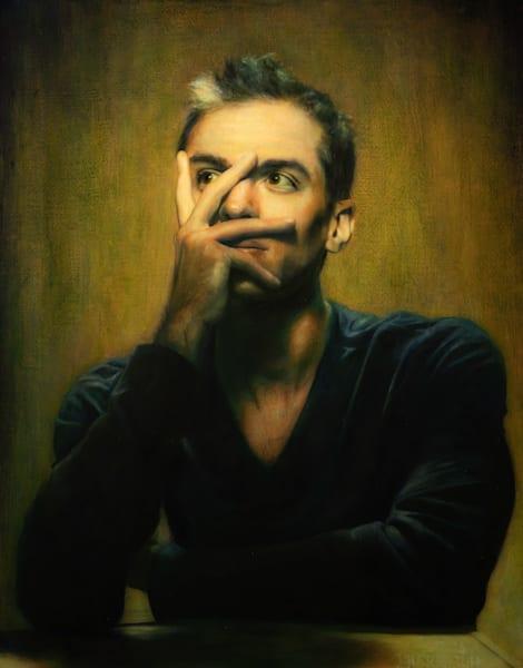 Jack (Original Oil Painting On Wood Panel, Framed) Art | Jeffrey Harrison Multi-Media Artist