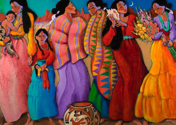 Five Women Art for Sale