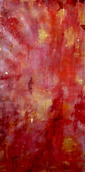 Red Moonlight Art | Lesley Koenig Studio