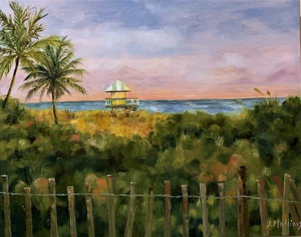 Dusk On Delray Beach Art | J. Medeiros Fine Art