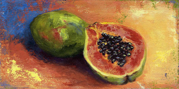 Papaya Half Art | J. Medeiros Fine Art