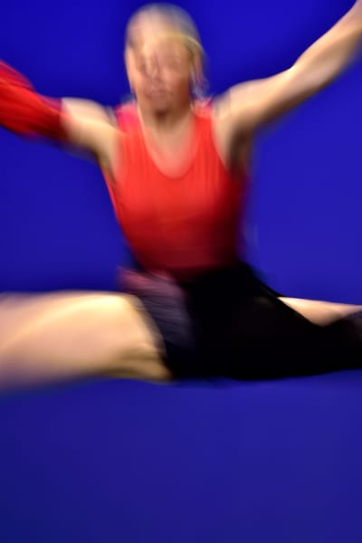 Abstract Dancer In Air