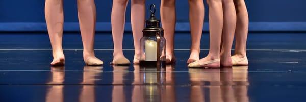 Five Dancers Lamp Reflection